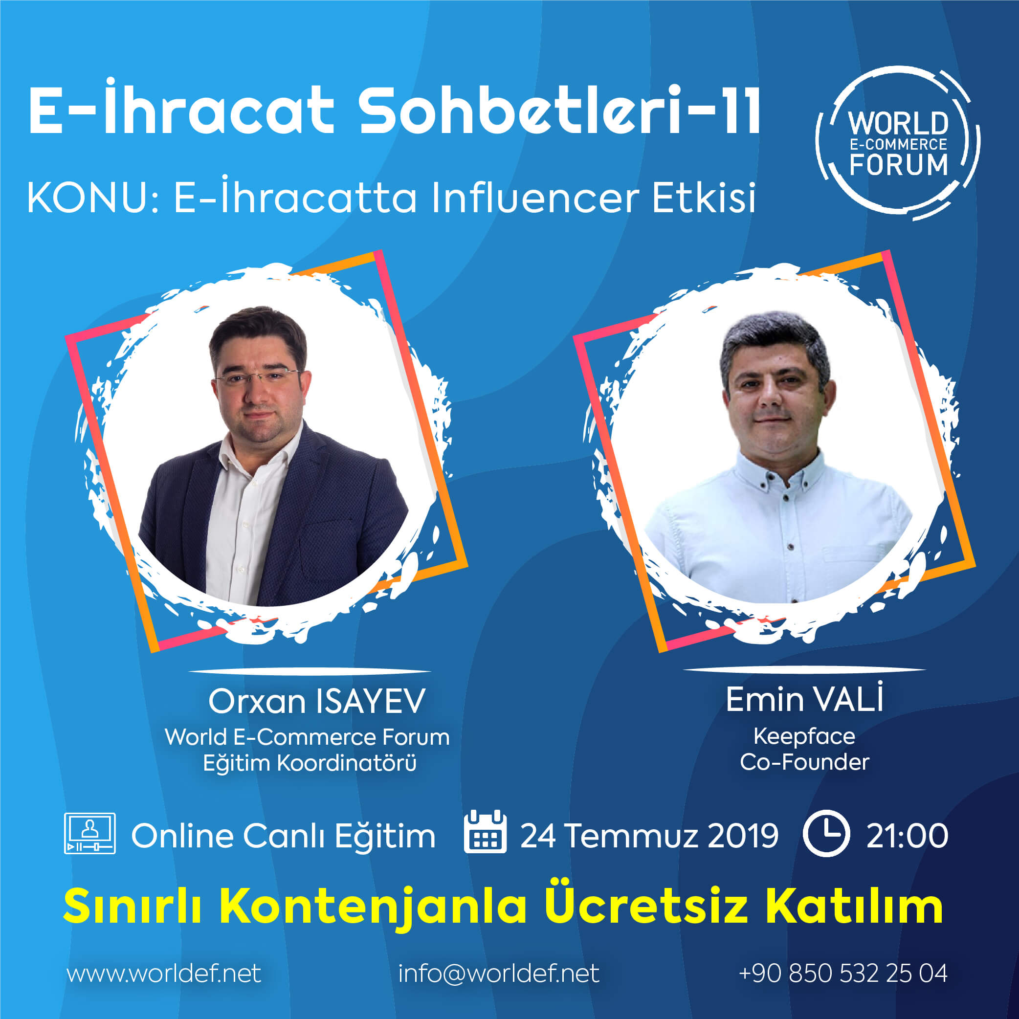 This week, Keepface.com co-founder Emin Valiyev will be the guest of the cross-border e-commerce webinar program. Valiyev will share his knowledge and experience in influencer marketing with us!