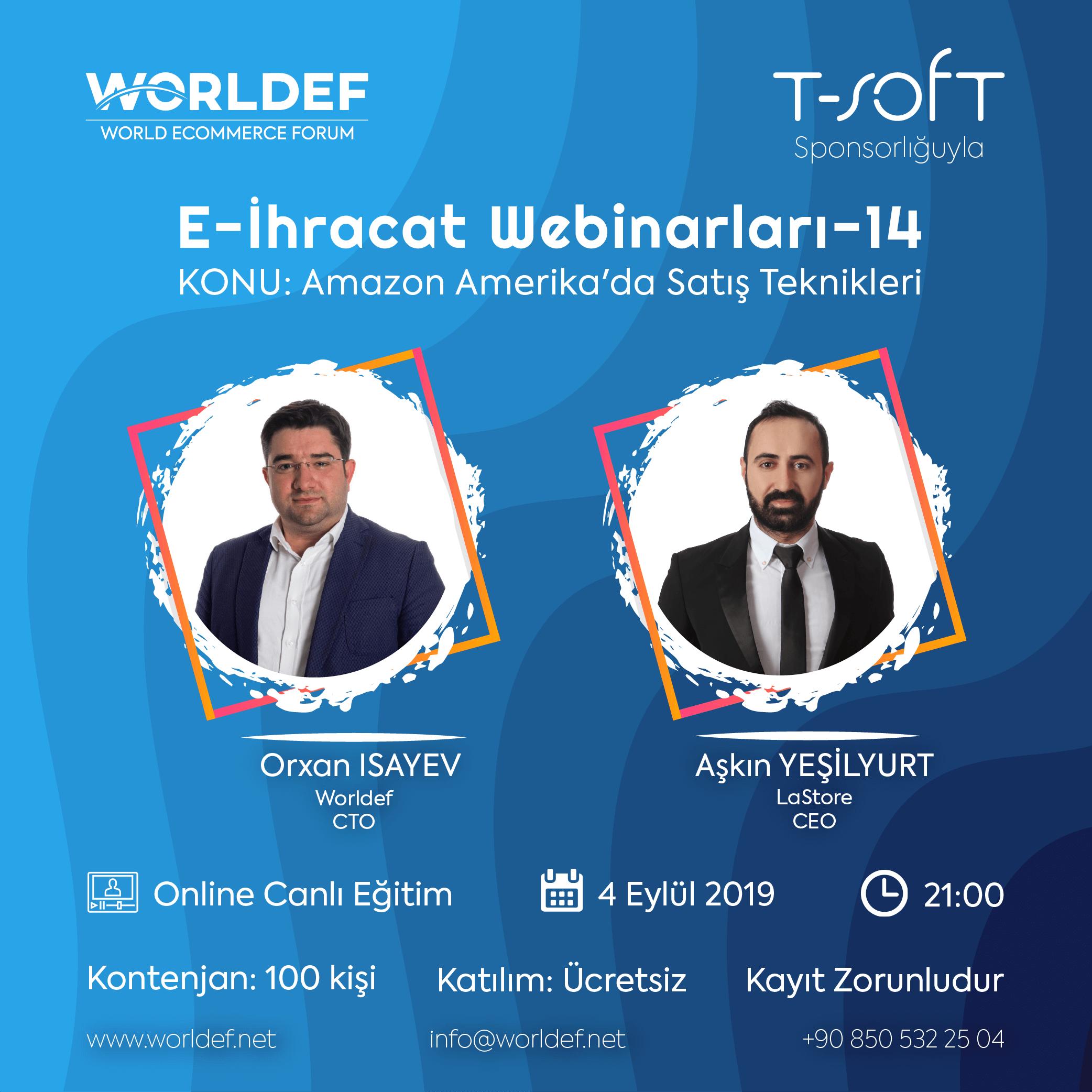 Aşkın Yeşilyurt, CEO of LaStore Group, will be the guest in the cross-border e-commerce webinar series!