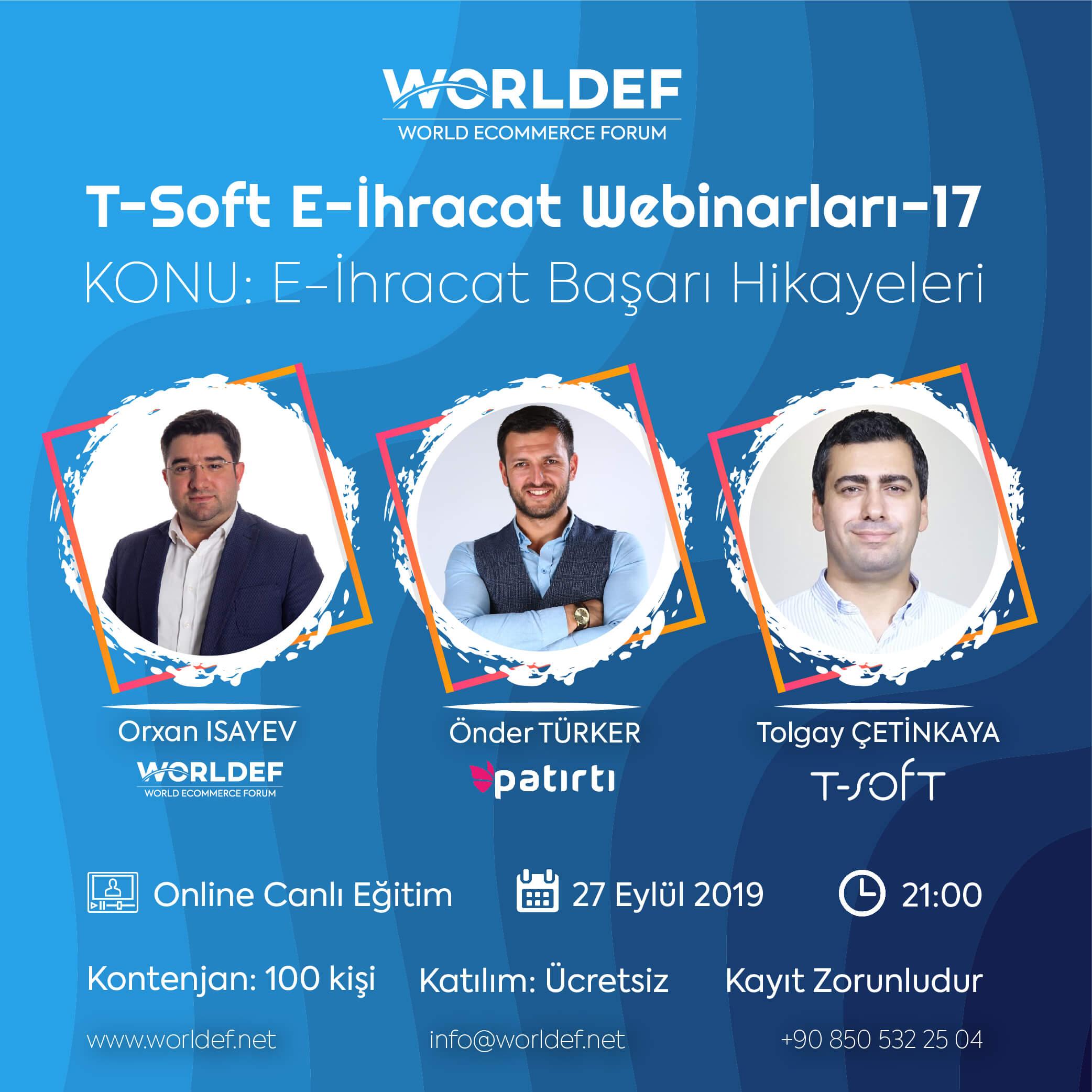 In the series of cross-border e-commerce webinars, this week, we will host Patırtı.com's E-Commerce Director Önder Türker.