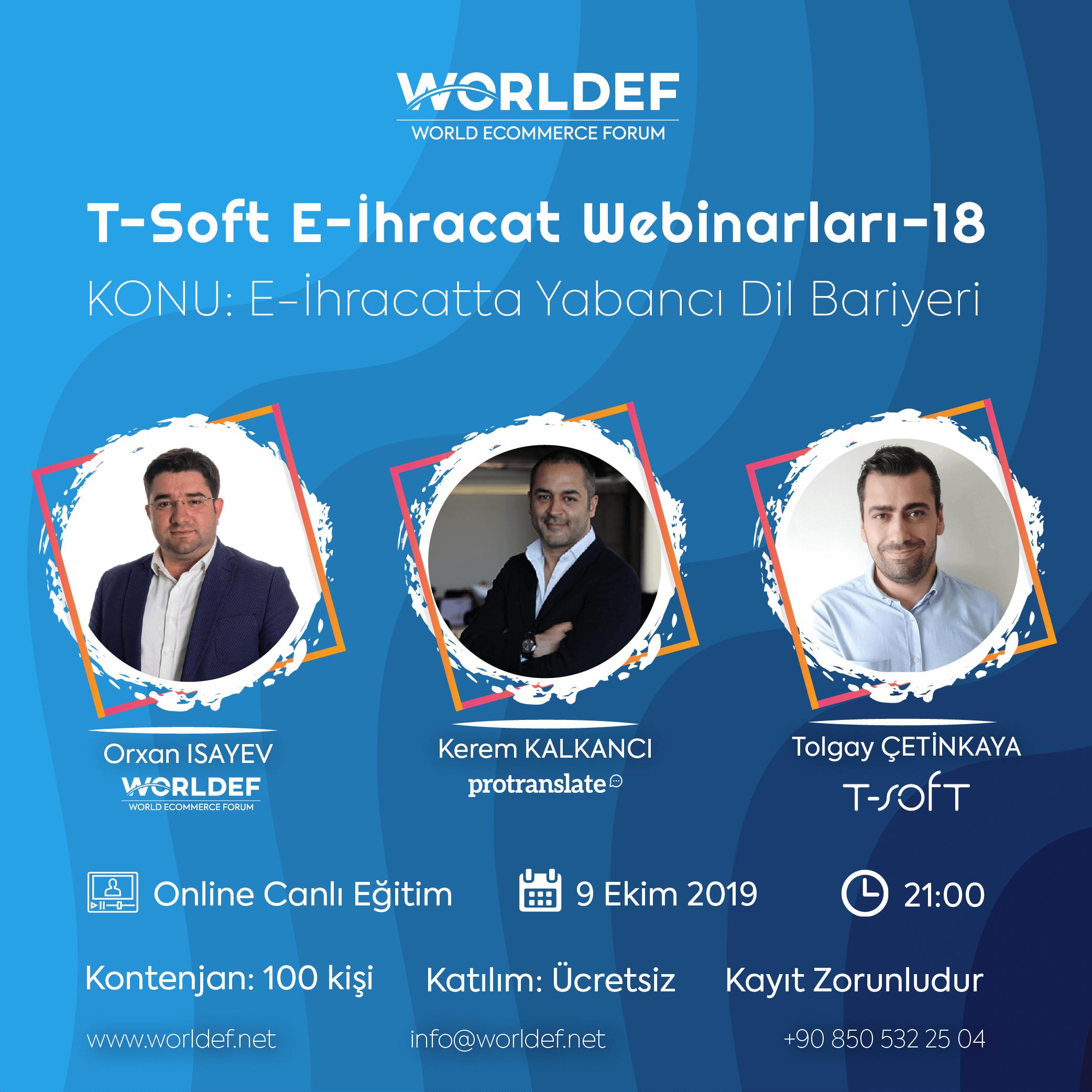 During the week of cross-border e-commerce webinars, we will host Protranslate's founder and CEO Kerem Kalkancı.