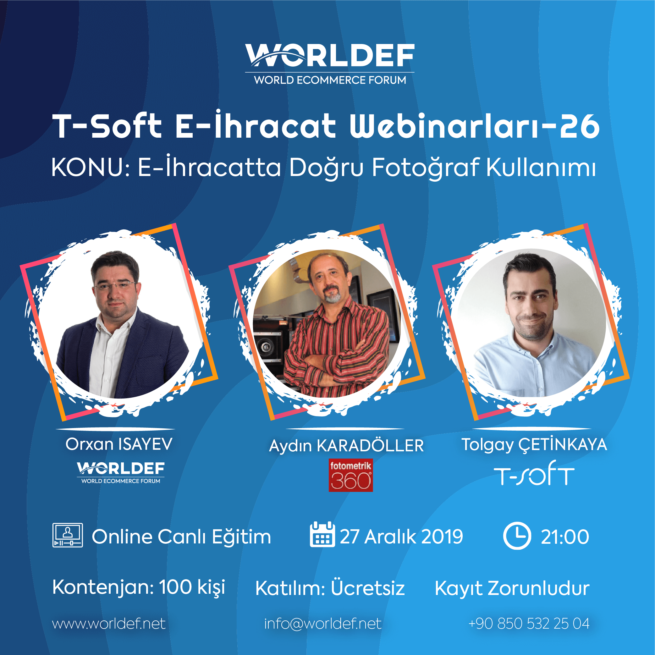 In the last cross-border e-commerce webinar week of 2019, Aydın Karadöller, the founding partner of Fotometrik360, will be our guest.