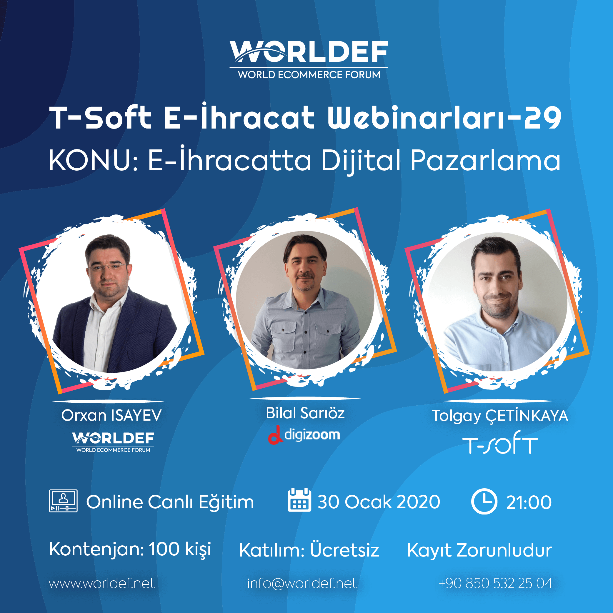 Bilal Sarıöz, the founding partner and technical manager of Digizoom Digital Marketing, will be our guest in the week of cross-border e-commerce webinars!