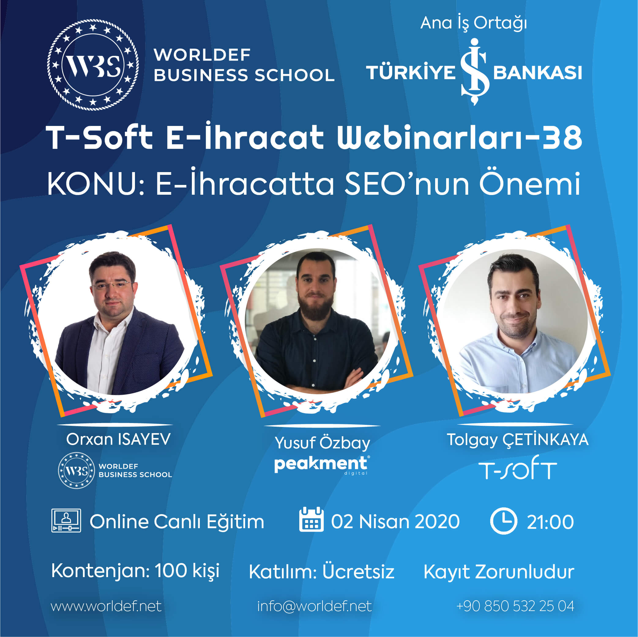 In the WBS Cross-Border E-Commerce Webinars series, this week we will discuss the importance and place of Search Engine Optimization (SEO) in cross-border e-commerce! Our guest will be SEO expert Yusuf Özbay!