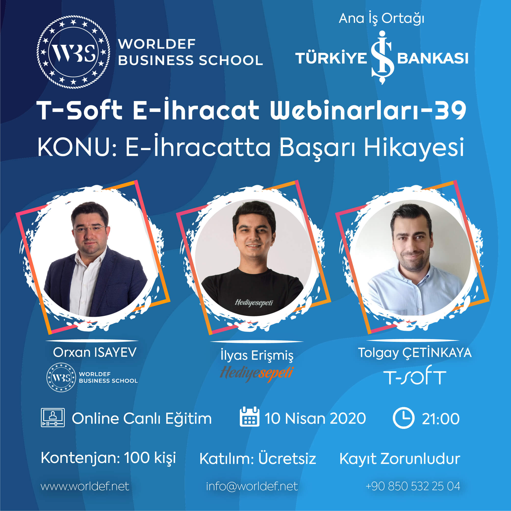 İlyas Erişmiş from GiftSepeti.com, which has achieved great success in the field of e-commerce businesses, will be our guest during the Cross-Border E-Commerce Webinars week!
