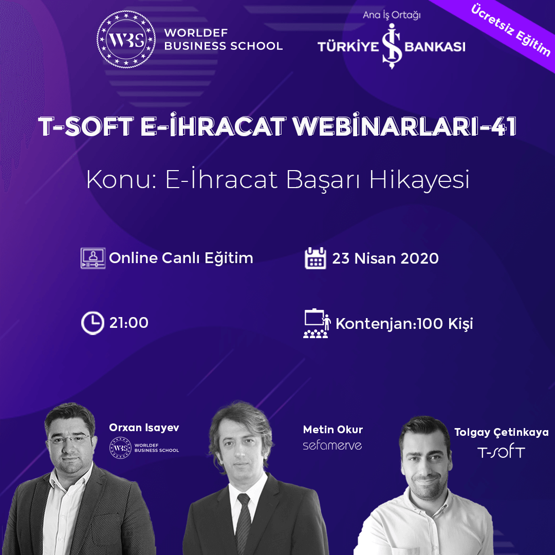 Mehmet Metin Okur, the founder of Sefamerve.com, which sends products to 55 countries this week in the Cross-Border E-Commerce Webinars series, will be our guest!
