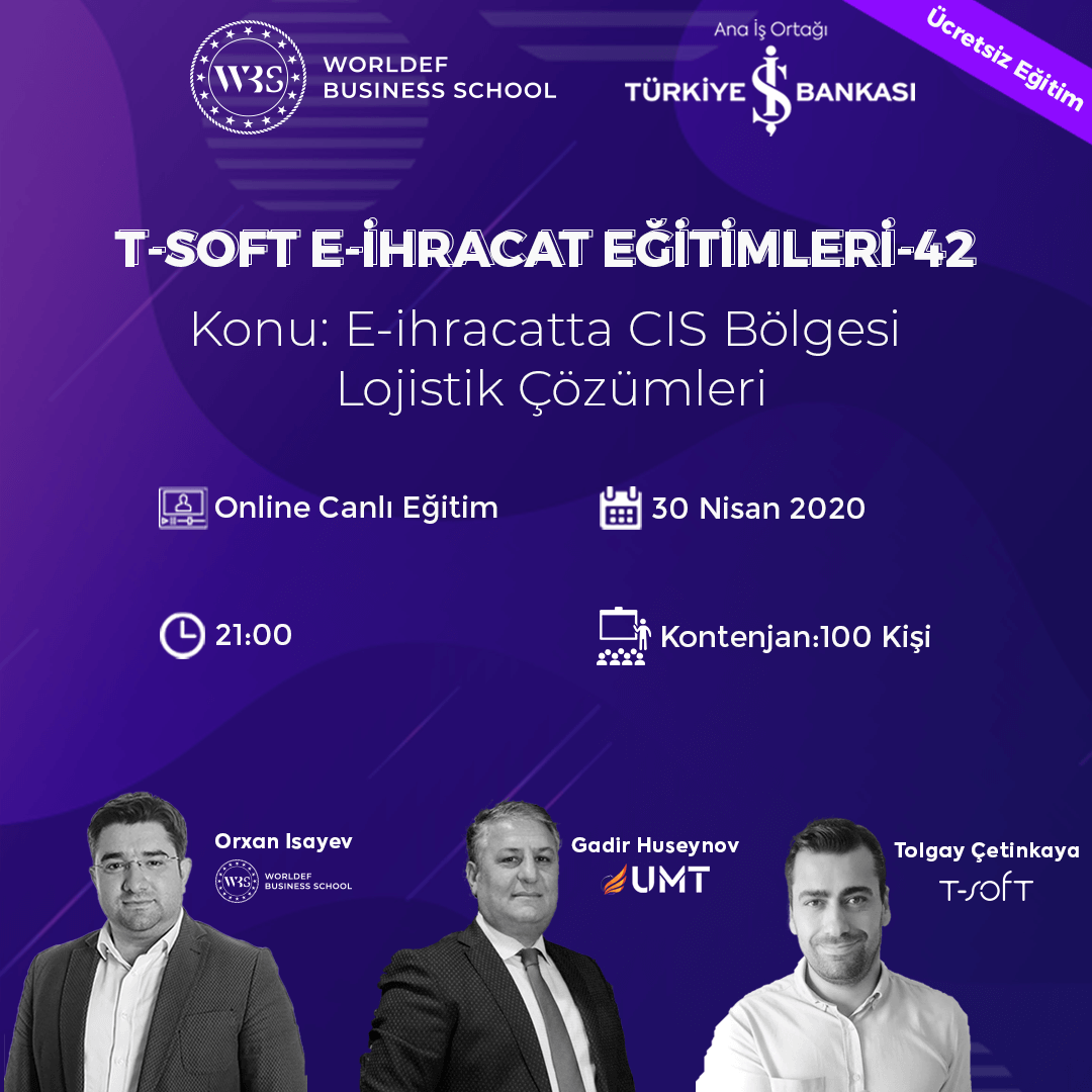 """In the week of Cross-Border E-Commerce Webinars, we will discuss the topic of """"CIS Region Logistics Solutions in Cross-Border E-Commerce"""". Our guest will be Gadir Huseynov from UMT!"""