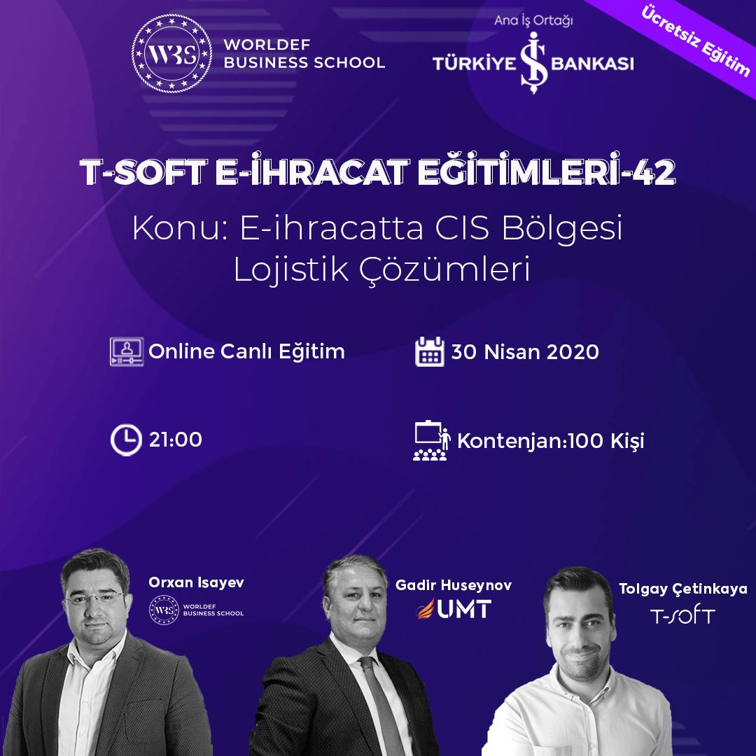 """E-İhracat Webinarları haftasında """"E-İhracatta CIS Bölgesi Lojistik Çözümleri"""" konusunu ele alacağız. Konuğumuz, UMT Uluslararası Taşımacılık şirketinden Gadir Huseynov olacak!"""