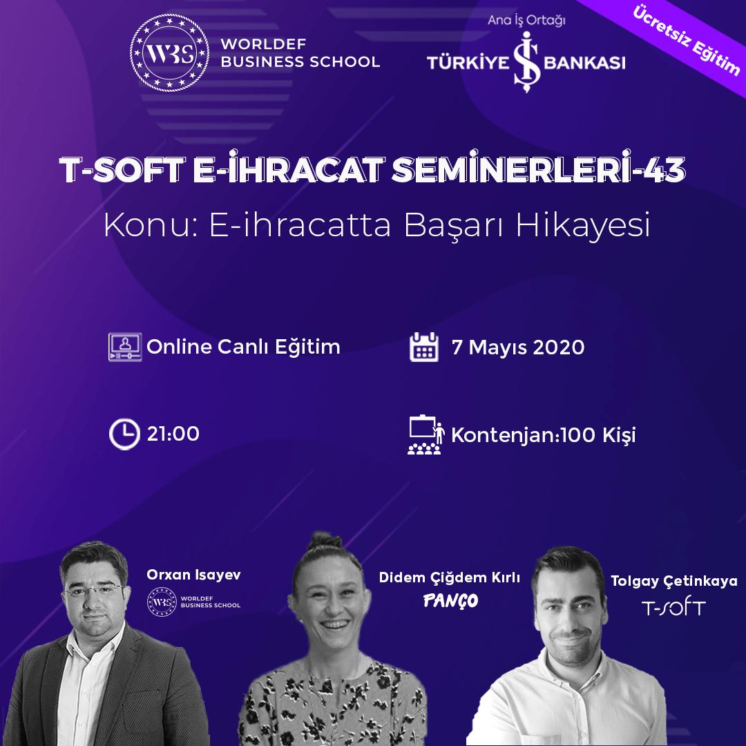 """Cross-Border E-Commerce Success Stories"" will take place during the Cross-Border E-Commerce Webinars week. Our guest will be Didem Çiğdem Kırlı, the marketing and brand manager of Panço!"