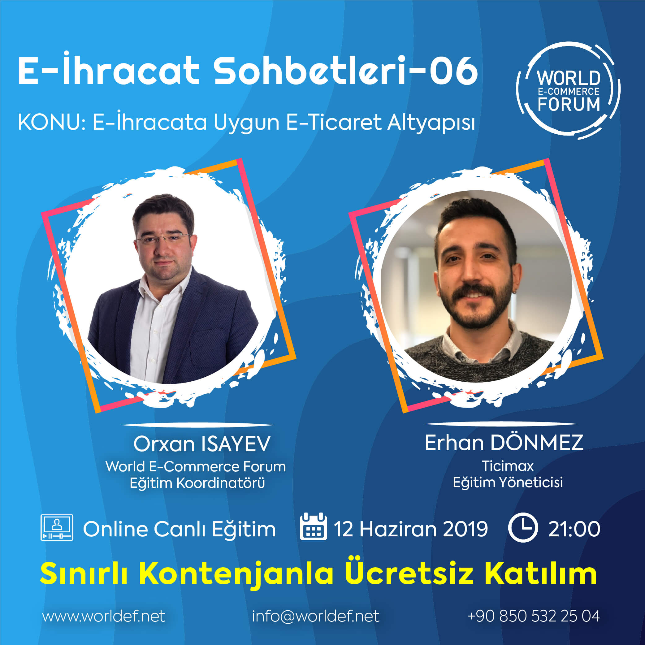 Training manager Erhan Dönmez from Ticimax Information Technologies Inc. will be the guest in the cross-border e-commerce webinar series this week!