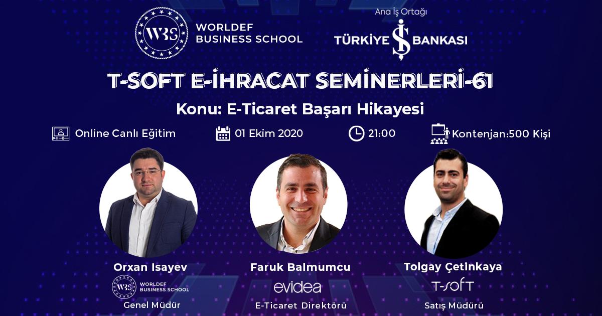E-ihracat webinarları haftasında Evidea E-Ticaret Direktörü Faruk Balmumcu konuğumuz olacak.