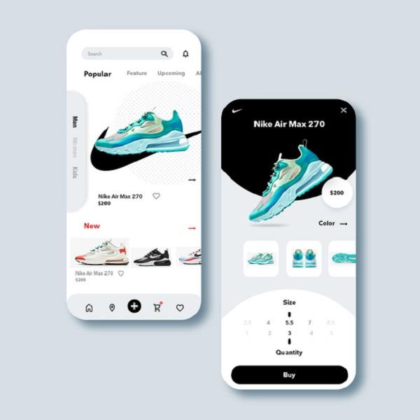 Nike, mobil uygulamalarla 2020 dijital satış büyümesini artırdı.