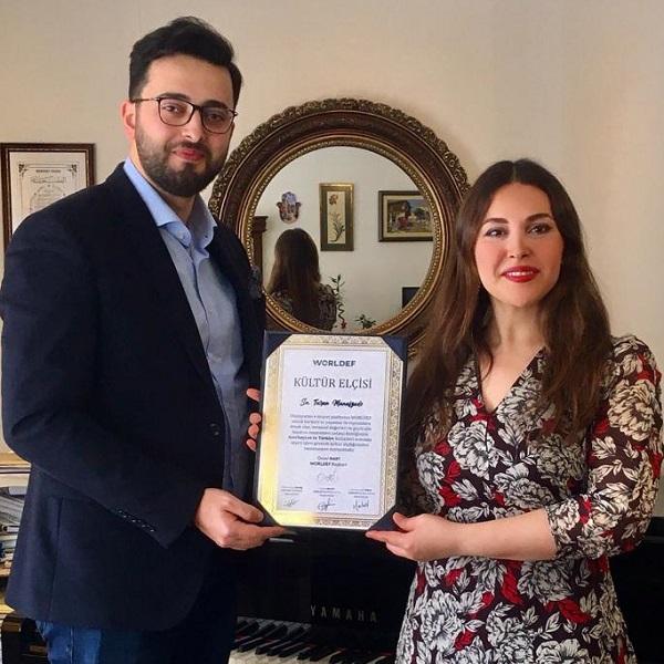 Turan Manafzade, uluslararası e-ticaret ve e-ihracat platformu WORLDEF'in kültür elçisi oldu.
